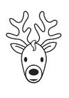 Bilde å fargelegge hjortehode