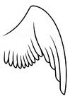 Bilde å fargelegge høyre vinge