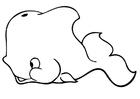 Bilde å fargelegge hval