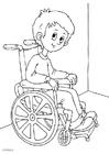 Bilde å fargelegge i rullestol