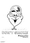 Bilde å fargelegge ikke røyke