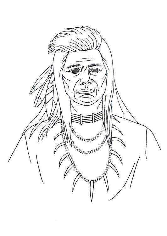Bilde fargelegge indianer bil 9906 - Fogli da colorare nativo americano ...