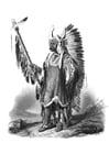Bilde å fargelegge indianer