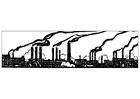 Bilde å fargelegge industriell forurensning