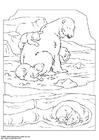 Bilde å fargelegge isbjørn