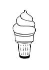 Bilde å fargelegge iskrem