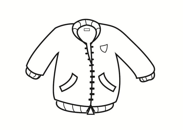 Bilde å fargelegge jakke | Gratis Bildene For Fargelegging