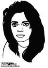 Bilde å fargelegge Janet Jackson