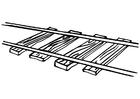Bilde å fargelegge jernbane