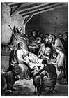 Bilde å fargelegge Jesus fødsel