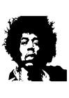 Bilde å fargelegge Jimi Hendrix