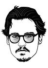 Bilde å fargelegge Johnny Depp