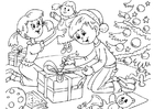 Bilde å fargelegge julaften