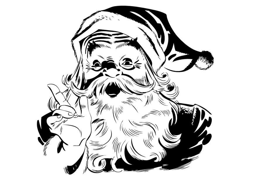 Bilde Fargelegge Julenisse Bil 10041