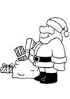 Bilde å fargelegge julenisse