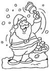 Bilde å fargelegge Julenissen