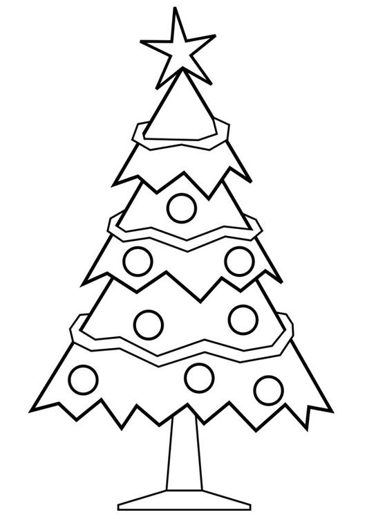 tegne juletre