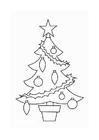 Bilde å fargelegge juletre