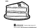 Bilde å fargelegge kake
