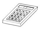 Bilde å fargelegge kalkulator