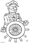 Bilde å fargelegge kaptein