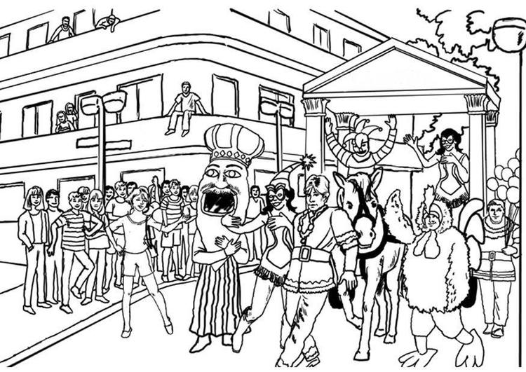 bilde å fargelegge karneval  gratis bildene for