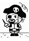 Bilde å fargelegge karneval pirat