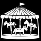 Bilde å fargelegge karusell