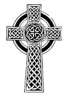 Bilde å fargelegge keltisk kors