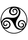 Bilde å fargelegge keltisk symbol