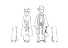 Bilde å fargelegge kimono