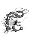 Bilde å fargelegge kinesisk drage
