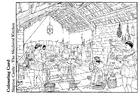 Bilde å fargelegge kjøkken fra middelalderen