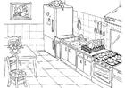 Bilde å fargelegge kjøkken