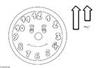 Bilde å fargelegge klokka