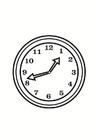 Bilde å fargelegge klokke