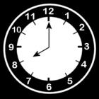 Bilde å fargelegge klokken er Ã¥tte