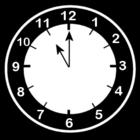 Bilde å fargelegge klokken er elleve