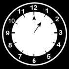 Bilde å fargelegge klokken er ett