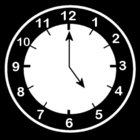 Bilde å fargelegge klokken er fem
