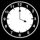 Bilde å fargelegge klokken er fire