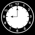 Bilde å fargelegge klokken er ni