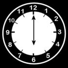 Bilde å fargelegge klokken er seks