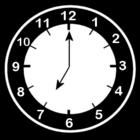 Bilde å fargelegge klokken er syv