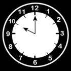 Bilde å fargelegge klokken er ti