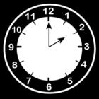 Bilde å fargelegge klokken er to