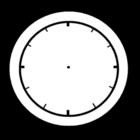 Bilde å fargelegge klokken er tom