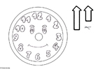 Bilde å fargelegge klokken