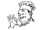 Bilde å fargelegge kokk