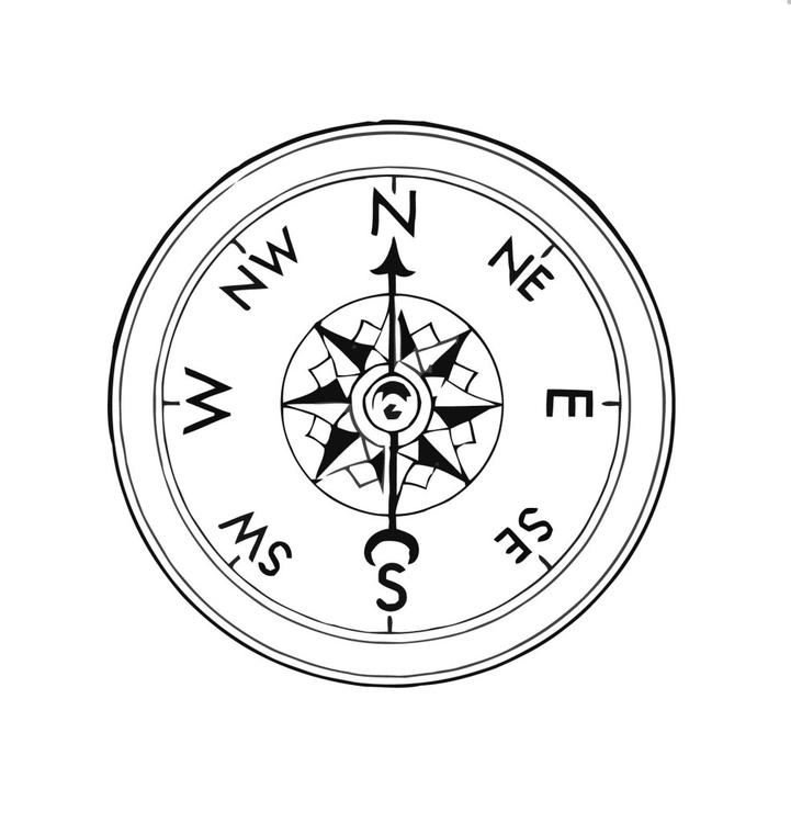 Bilderesultat for kompass tegning